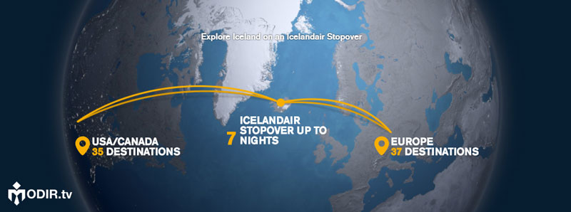کمپین Icelandair's Stopover Program
